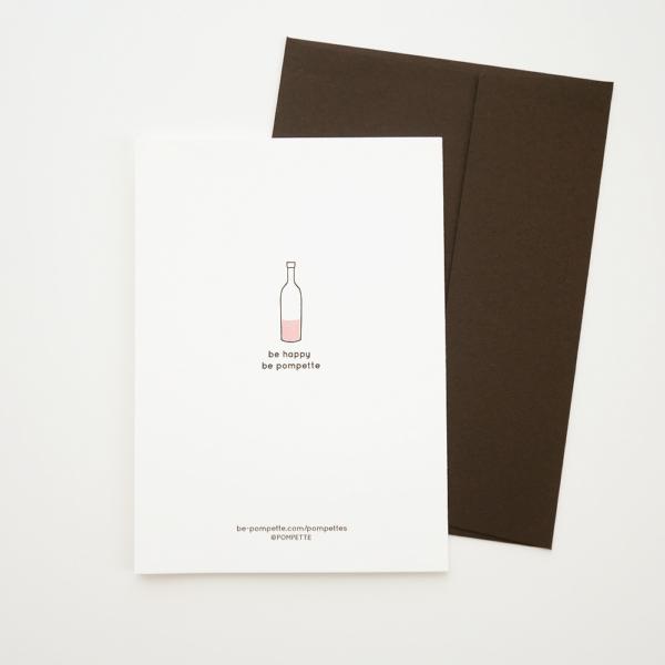 pompettes グリーティングカード 裏 活版印刷
