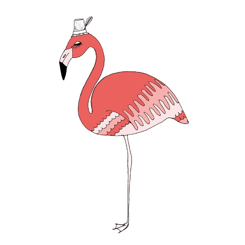 イラスト フラミンゴ