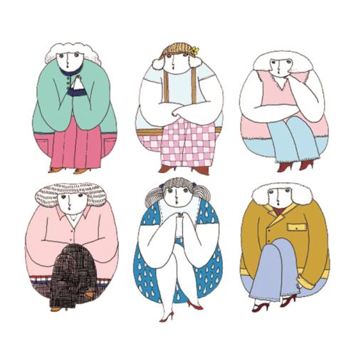 i am atashi 女の子6人のイラスト