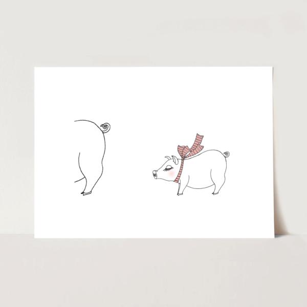 ポスター 赤ちゃんブタのイラスト