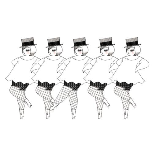 ダンシングガールズのイラスト