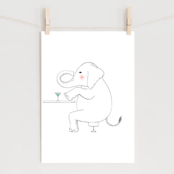 ポスター ゾウのイラスト