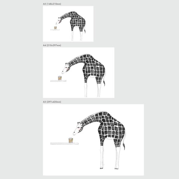 キリンのポスターのサイズ表