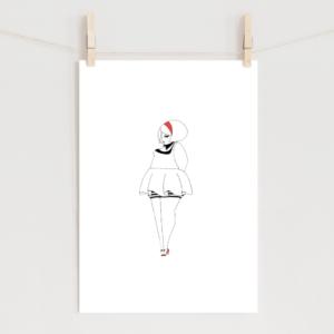 赤いカチューシャの女の子のポスター