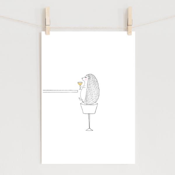 ポスター ハリネズミのイラスト