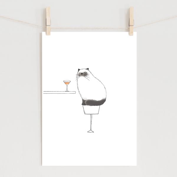 ポスター ヒマラヤン猫のイラスト