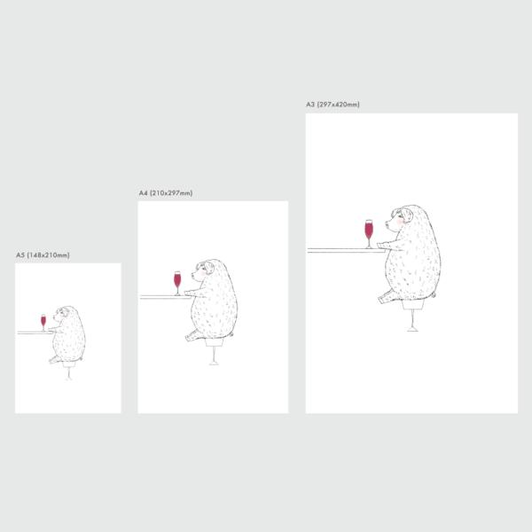 アートプリントのサイズ表 マンガリッツァ豚