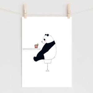 パンダのイラスト ポスター
