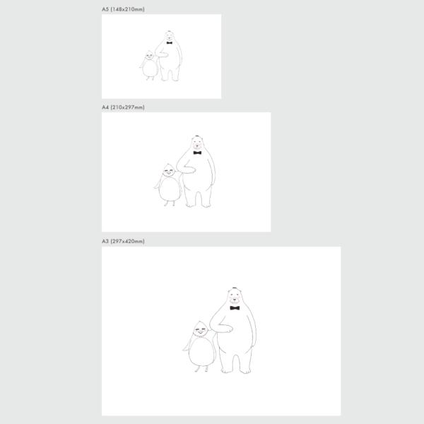 アートプリントのサイズ表 ペニーとラース デート