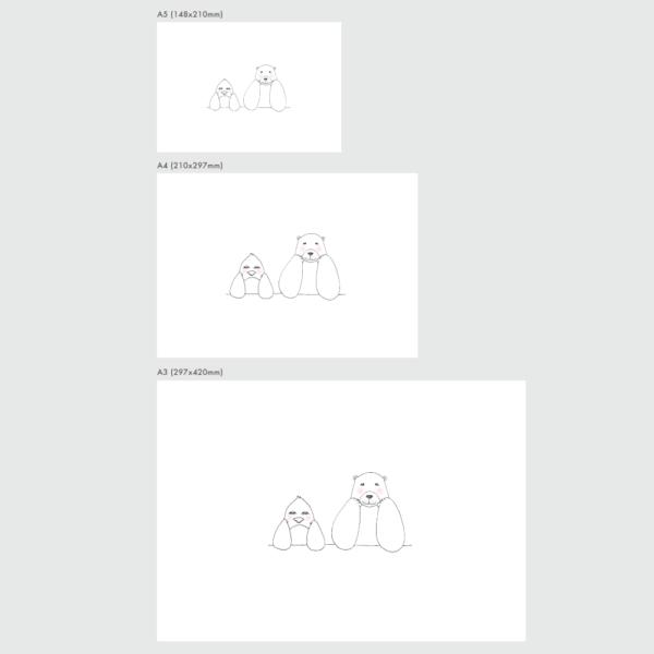 アートプリントのサイズ表 ペニーとラース