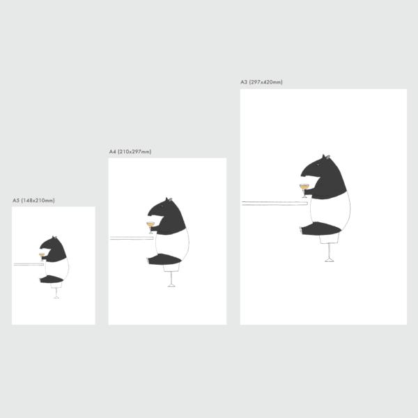 マレーバクのポスターのサイズ表