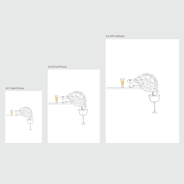 ゾウガメのポスターのサイズ表